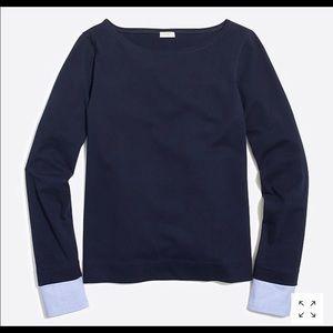 J crew Factory cuffed boatneck shirt